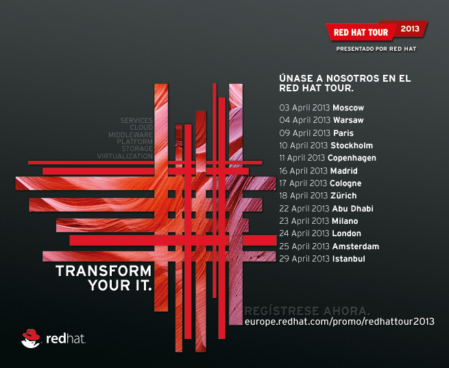 Red Hat Tour 2013 - Transform Your IT.